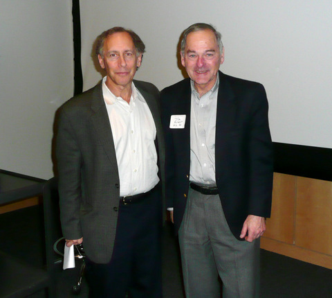 NoJ-ACS Chair Joseph Potenza [right] with Cecil Brown Lecturer Robert...